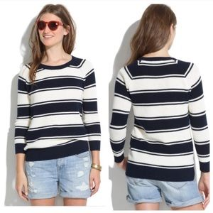 Madewell Navy & Cream Striped Pullover Sweater